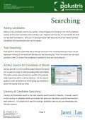 Palustris Recruitment Software By Jarrett & Lam Consulting Tel: +44 ... - Page 6