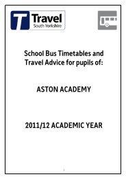 Aston Academy Buses Timetable sept