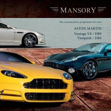 ASTON MARTIN Vantage V8 / DB9 Vanquish / DBS - Mansory