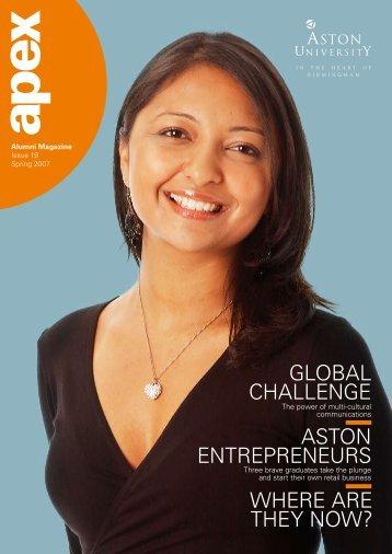 Aston entrepreneurs GlobAl chAllenGe where Are ... - Aston University