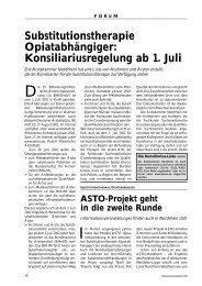 Substitutionstherapie Opiatabhängiger - Ärztekammer Nordrhein