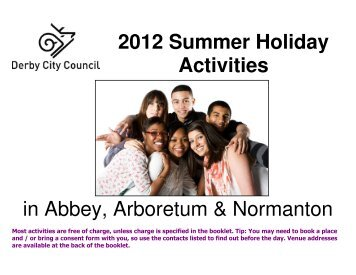 2012 Summer Holiday Activities - Littleover Community School