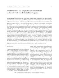 Oxidative Stress and Enzymatic Antioxidant Status in Patients with ...