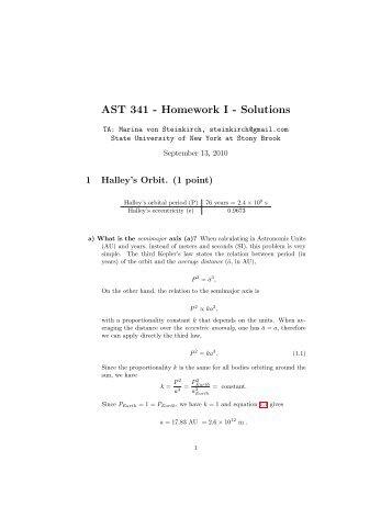 AST     Homework   Solutions