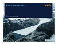 Energy Services Segment - Alpiq