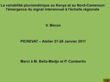 La variabilité pluviométrique au Kenya et au Nord ... - CEREGE