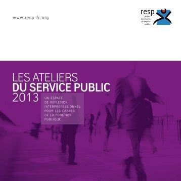 Les ateliers du service public 2013 - Esen