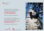 Nationale Tagung zum Programm «Projets urbains ... - admin.ch