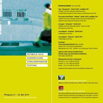 Programmheft - Straßentheater Detmold
