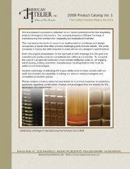 2008 Product Catalog Vol. 1 - American Atelier Inc