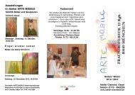 Ausstellungen im Atelier Arte Mobile