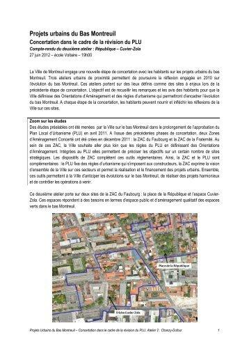 Projets urbains du Bas Montreuil - Ville Ouverte