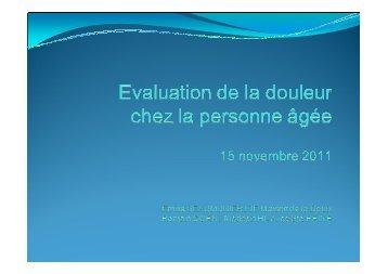 atelier 2 Evaluation de la douleur Emilie Beaumunier