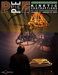Download the Kinetic Contraptions PDF - Exploratorium