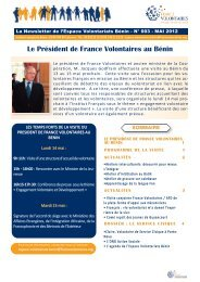 Le VoLontariat de serVice ciVique a L'internationaL - Réseau ...