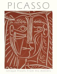 PICASSO - Unique Proofs from His Ateliers - Galerie Michael