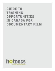 guide to training opportunities in canada for documentary ... - Hot Docs