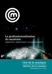 Cité de la musique La professionnalisation du musicien