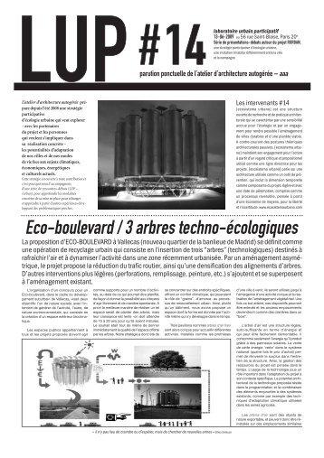 laboratoire urbain participatif - Atelier d'Architecture Autogéré