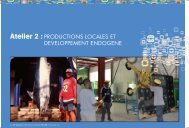 Atelier 2 : PRODUCTIONS LOCALES ET ... - Les Outre-Mer