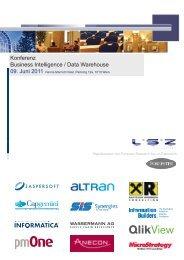 Konferenz Business Intelligence / Data Warehouse - LSZ Consulting