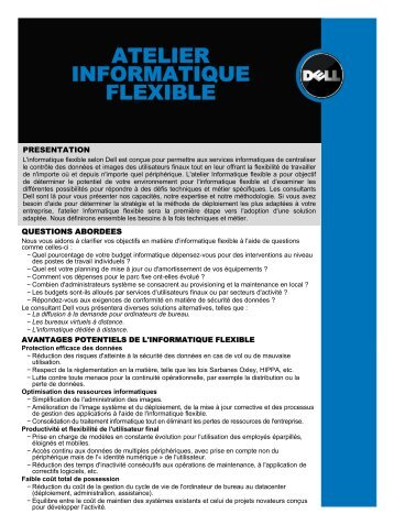 ATELIER INFORMATIQUE FLEXIBLE - Dell