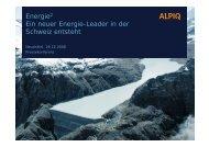 EDF hat die Option - Alpiq