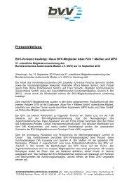 Pressemitteilung - Bundesverband Audiovisuelle Medien