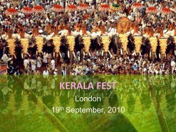 Kerala & Culture Festival (KCF) - KERAL today