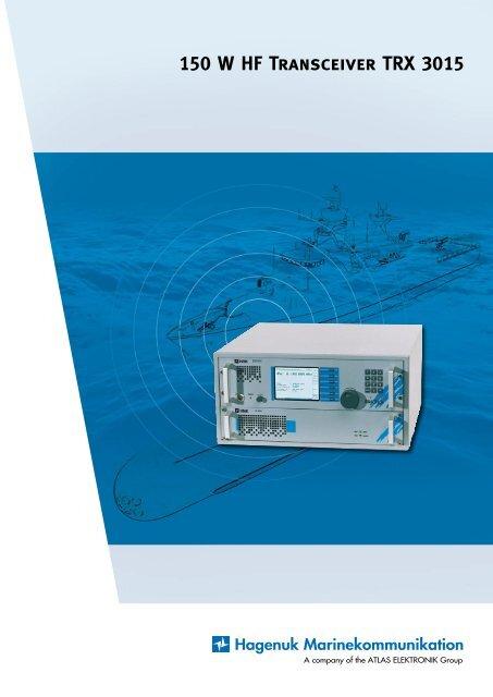 150 W HF Transceiver TRX 3015 - Atlas Elektronik - Hagenuk