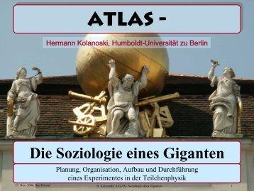 ATLAS - Soziologie eines Giganten