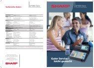 UP-800-Serie - Sharp Electronics Europe GmbH