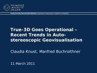 Recent Trends in Auto- stereoscopic Geovisualisation