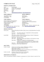 CURRICULUM VITAE - Institute of Particle and Nuclear Physics