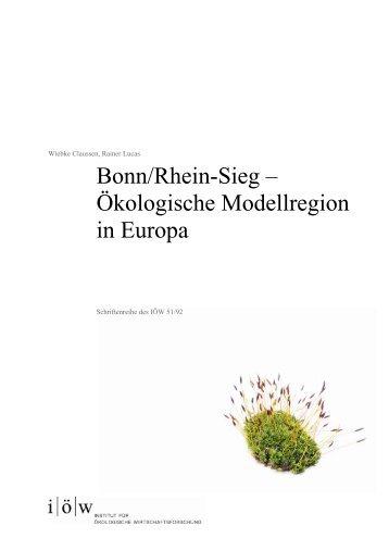 Bonn/Rhein-Sieg - Institut für ökologische Wirtschaftsforschung