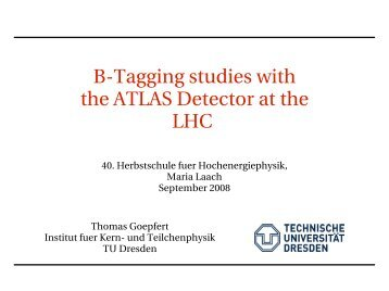 BTagging studies with the ATLAS Detector at the LHC