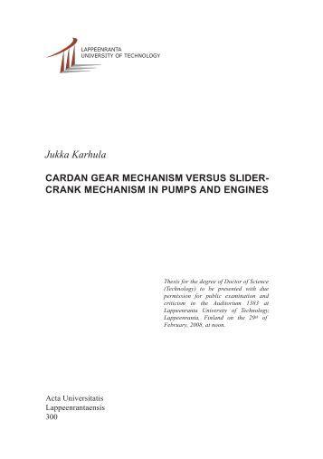 design of slider crank mechanism pdf