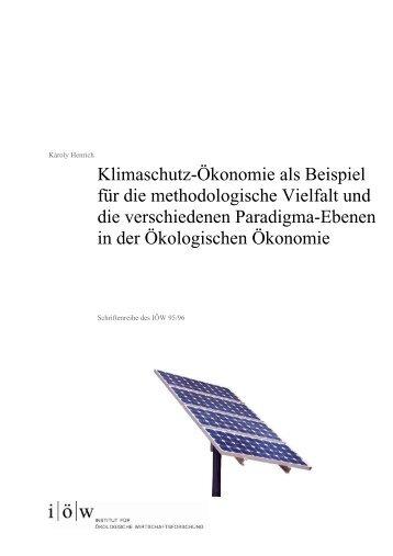 Zusammenfassung - Institut für ökologische Wirtschaftsforschung