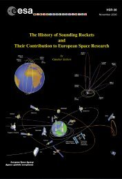 The History of Sounding Rockets and Their Contribution to ... - ESA