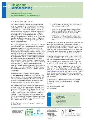 Klimaanpassung in Kommunen - Institut für ökologische ...