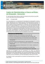 Ergebnisse des Dialogs zu Küstenschutz (pdf/479-KB
