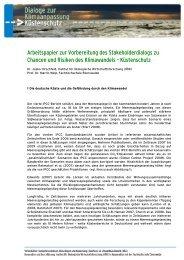 Arbeitspapier Dialog Küstenschutz
