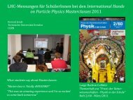 International Hands on Particle Physics Masterclasses