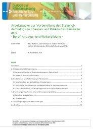 Arbeitspapier Dialog Berufliche Aus- und Weiterbildung  (pdf/181