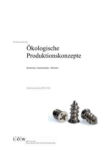 Ökologische Produktionskonzepte Skizzen für ein ...