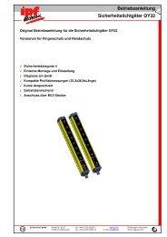 Betriebsanleitung Sicherheitslichtgitter OY32 - IPF Electronic GmbH