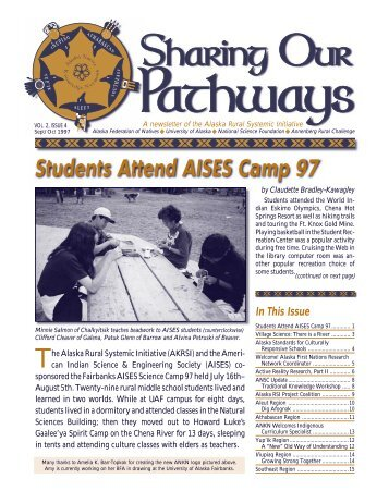 Students Attend AISES Camp 97 - Alaska Native Knowledge ...