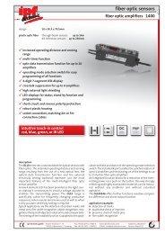 fiber optic sensors - IPF Electronic GmbH