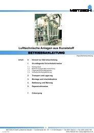 Lufttechnische Anlagen aus Kunststoff - Mietzsch GmbH Lufttechnik ...