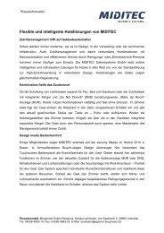 Presse-Info Januar 2011 Flexible und intelligente ... - bei MIDITEC